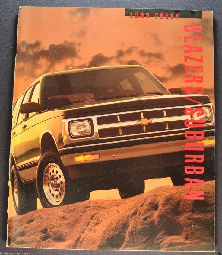 1993 Chevrolet Blazer Suburban Truck Brochure Silverado Cheyenne Sport S- LT 44