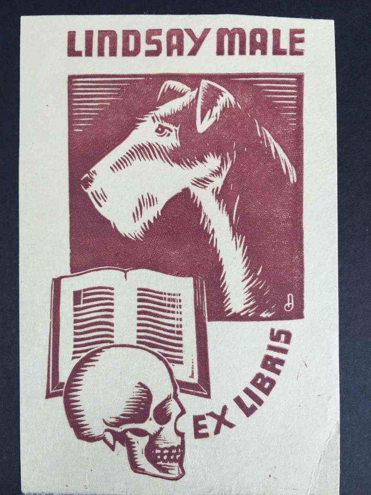 EX LIBRIS BOOKPLATE AUSTRALIAN Allan Jordan (1898-1982) for Lindsay Male | eBay