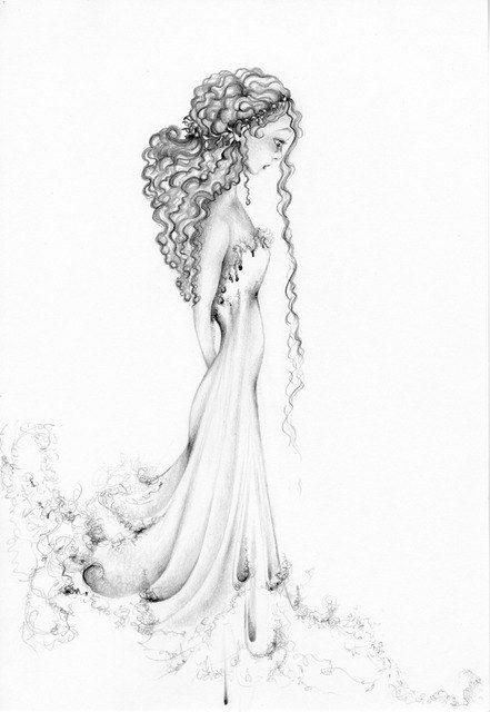 Pencil Drawing Fantasy Drawing my Original by ABitofWhimsyArt, $75.00