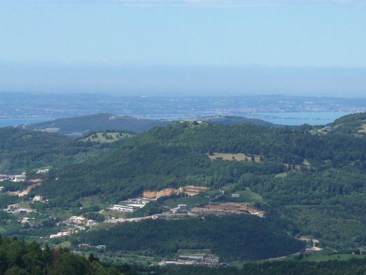 il lago di Garda visto da casa