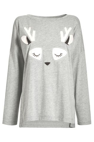Buy Novelty Appliqué Long Sleeve Top from the Next UK online shop