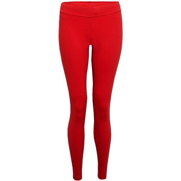 Hey Jo London Cassini Legging - Antares ($225) ❤ liked on Polyvore featuring pants, leggings, antares, red trousers, jersey pants, jersey knit pants, red leggings and red pants