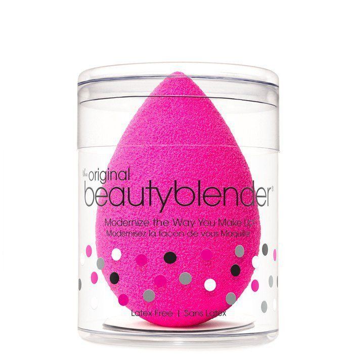 What it is: An edgeless, non-disposable, high-definition cosmetic sponge applicator + Solid Sponge Cleanser What it does: The unique shape and exclusive material available only with beautyblender® ens