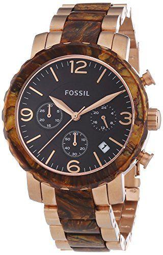 Fossil-Damen-Armbanduhr-Natalie-Bicolor-Chronograph-Quarz-JR1385