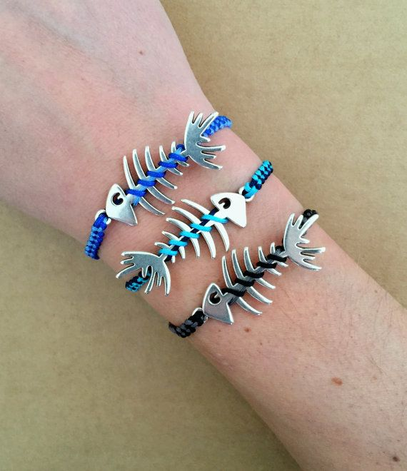 Unisex Silver Plated Fishbone Herringbone Adjustable by IzouBijoux