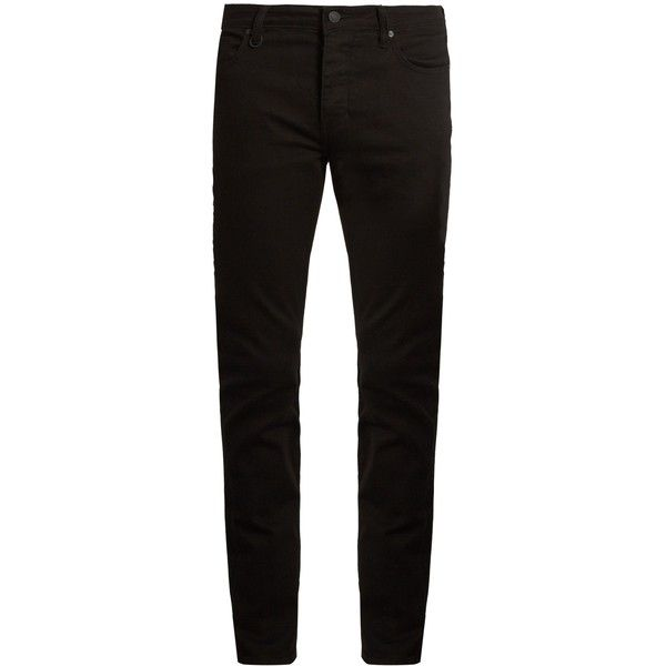 Neuw Denim Iggy skinny jeans ($81) ❤ liked on Polyvore featuring men's fashion, men's clothing, men's jeans, black, mens skinny jeans, mens low rise jeans, mens low rise skinny jeans, mens skinny fit jeans and mens super skinny jeans