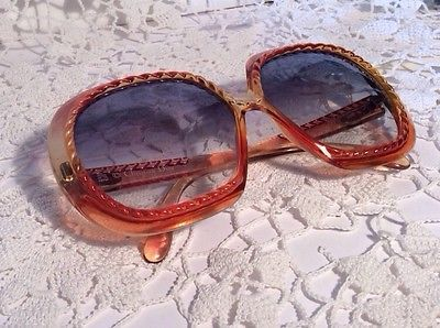 Vintage Retro Christian Dior Amber Yellow 70s Optyl 2060 Ladies Big Sunglasses   eBay