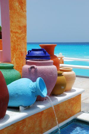 Colorful Mexican pots...