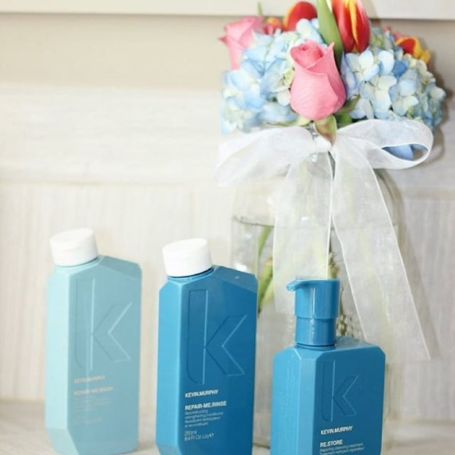 Repair, protect, add moisture and strength with KM's REPAIR.ME WASH, RINSE and RE.STORE treatment
