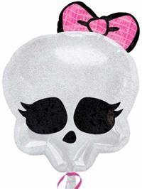 Monster High Skullette, Super Shape Folyo Balon Parti balonlarınızı uçan balon olarak Parti Paketi mağazalarında helyum gazı ile şişirtebilir; ya da balon çubuğu, balon pompası ve balon rafyası alarak kendiniz hava ile şişirip parti mekanınızı süsleyebilirsiniz.  Monsters High temalı parti süslemesi için ideal!