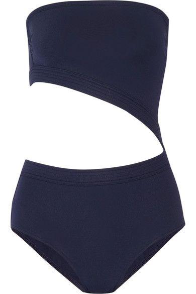 Eres - Pierre Cutout Bandeau Swimsuit - Midnight blue - FR