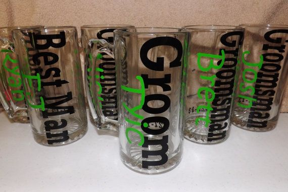 listing for 7.Personalized beer mugs. Great by PrettyLittleDezigns