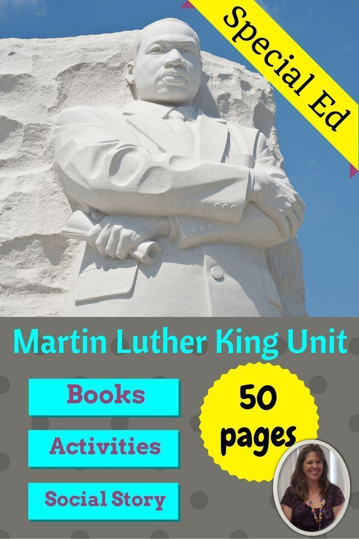This 50 page unit on Martin Luther King Jr was developed for students with autism and in special education.  Perfect for January and Black History Month.  Also covers the life of Rosa Parks.  Includes:  books, activities, social story and more. #SPED #specialed #SpecialEducation #SpecialNeedsTeacher #lessonplans #socialstudies #mlk #martinlutherkingjr #blackhistorymonth