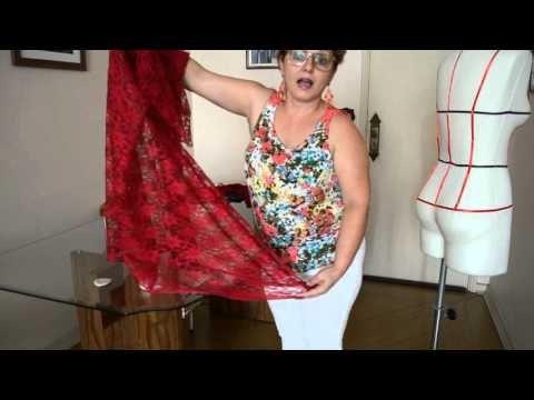 Como fazer saia com cauda sem recortar o barrado da renda - Aula 48 - YouTube