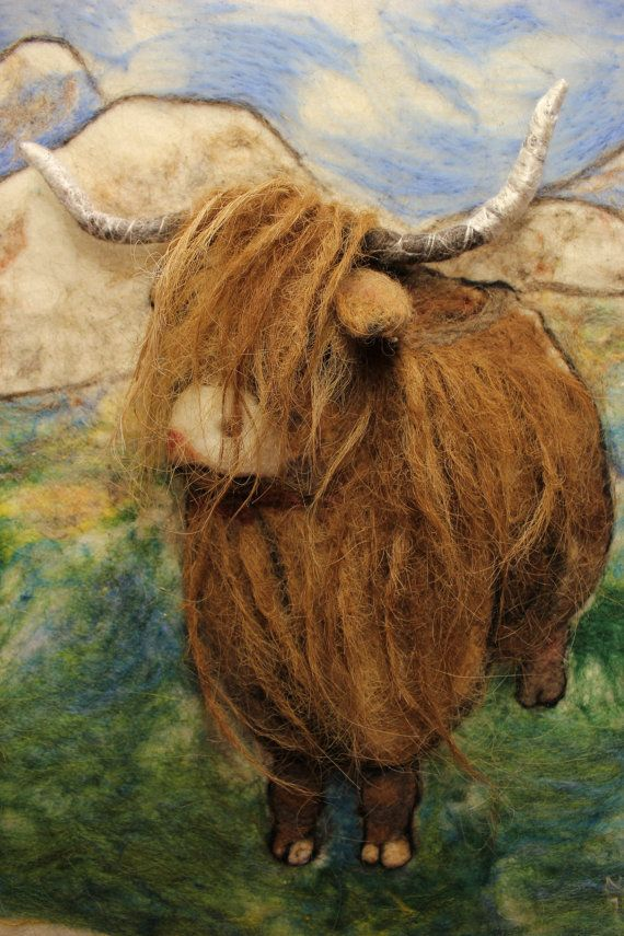 Custom Felted Pet Portrait,Felted Picture,wall hanging, animal, original wool…