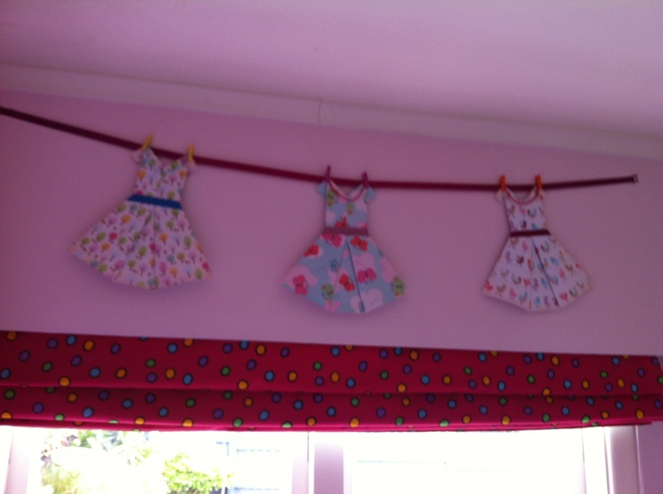 Fold-u-licius frocks girls bedroom bunting.