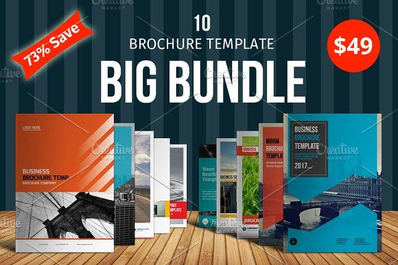 Big Bundle Brochure Template by alimran24 on @creativemarket