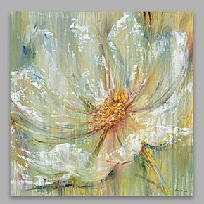 flor grande del tamaño 90 * 90 cm estirada listo para colgar en la pared del…
