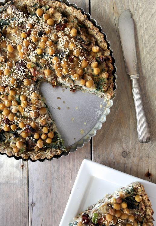 quinoa quiche - vegan