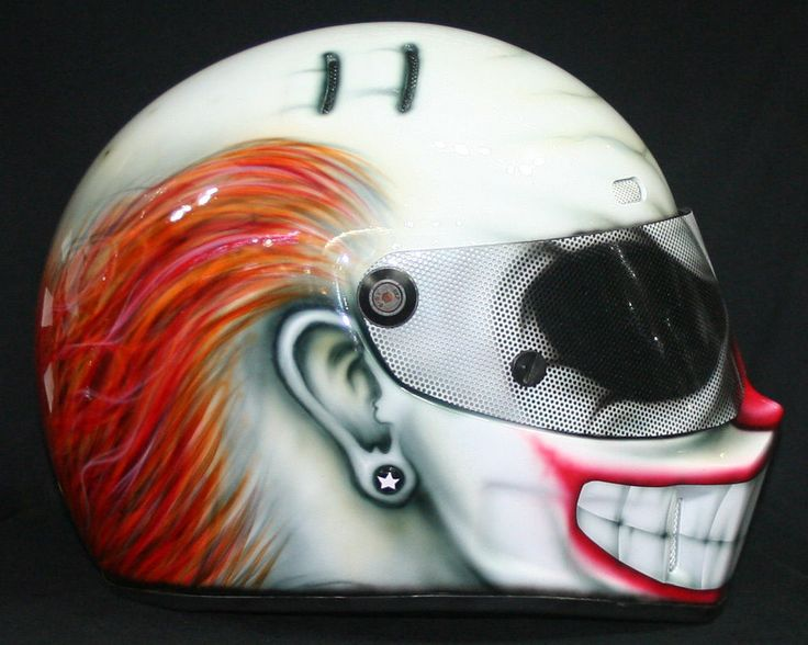 custom full face motorcycle helmets clown awesome. Black Bedroom Furniture Sets. Home Design Ideas