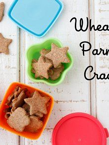 Wheat Germ Parmesan Crackers from Weelicious.com