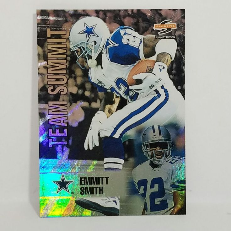 Emmitt Smith Football Card 1995 Score Summit Team Summit HOF Dallas Cowboys  #DallasCowboys #forsale #emmittsmith #footballcard #score #teamsummit #dallascowboys #ebay #NFL #HOF #sportscard #cardcollector #vintagecard #rarecard #dallas #cowboys http://ow.ly/Dpbs308W4Gi