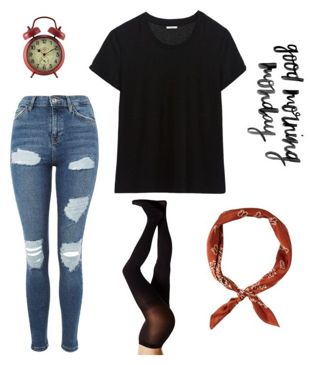 """""""monday morning outfit"""" by theo-janickova on Polyvore featuring Topshop and HUE"""