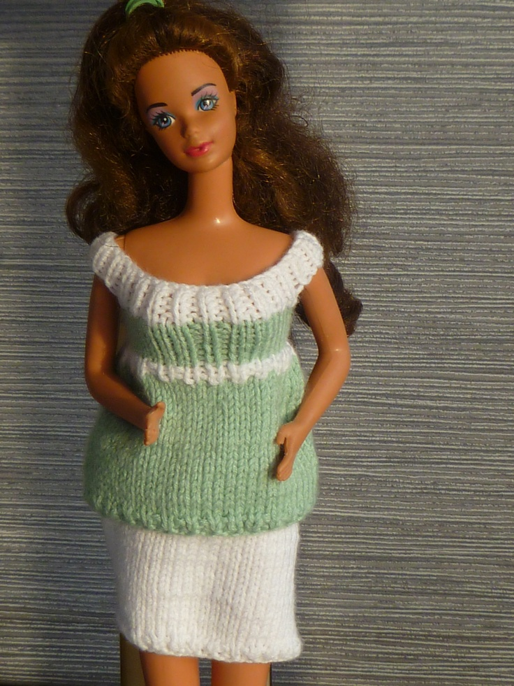 Knitting Pattern 1000 : Images about ⊱ barbie knit patterns sew on pinterest