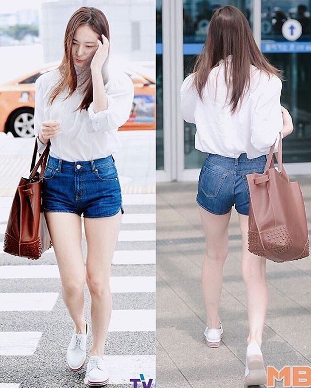 Krystal at Incheon Airport going to Italy for a photoshoot. #soojung #soojungie…