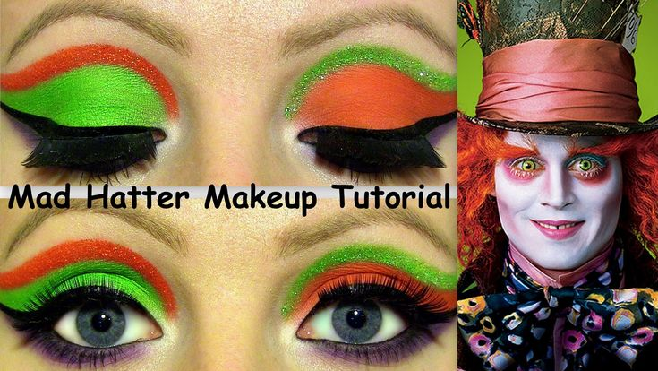 The Mad Hatter Makeup Tutorial!                                                                                                                                                                                 More