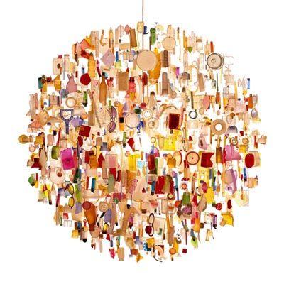 debris chandelier