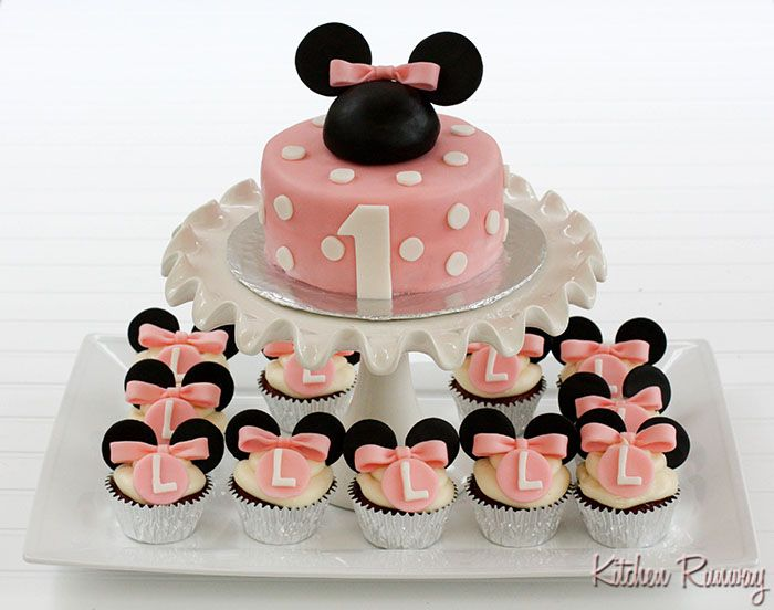 Baby K bday: Birthday Quotes, Cakes Ideas, Polka Dots, Birthday Parties, 1St Birthday, Parties Ideas, Minnie Mouse Cakes, Cupcakes Rosa-Choqu, Birthday Cakes