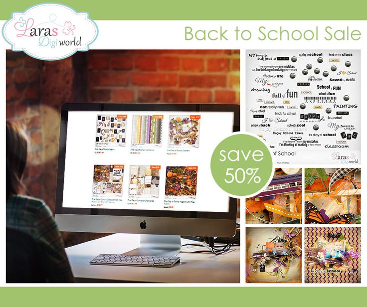 Lara´s Digi World - Digital Scrapbooking Designs: Last days of Back to School Sale!