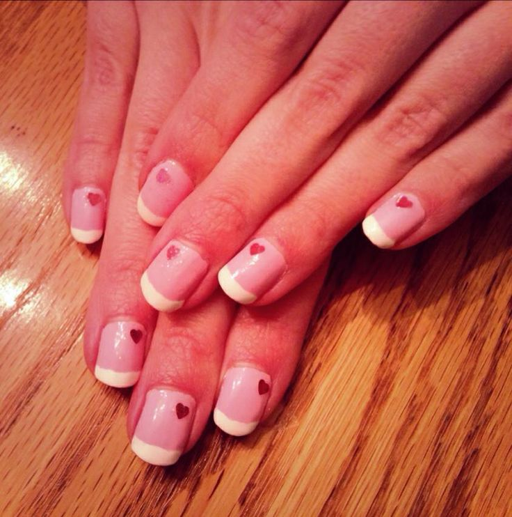 pink valentine's day nail designs