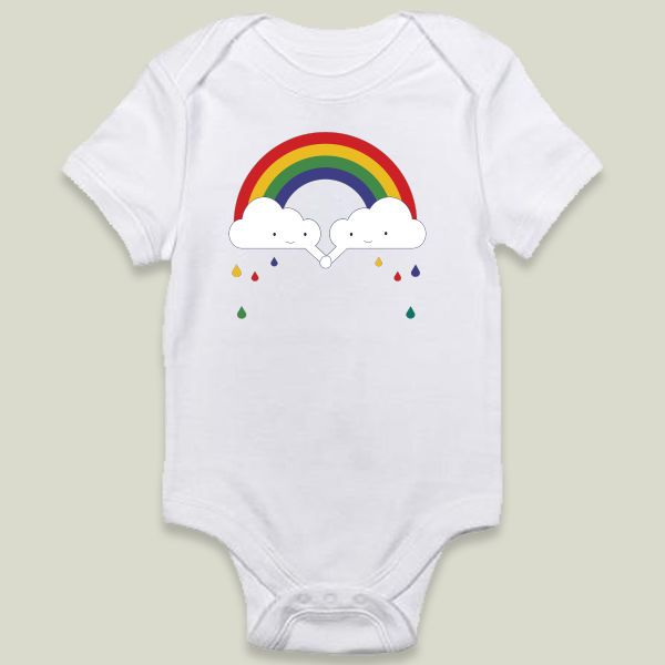 Fun Indie Art from BoomBoomPrints.com! http://www.boomboomprints.com/Product/kathrinlegg/Be_a_Rainbow/Onesies/0-3M_Cloud_White_Onesie/
