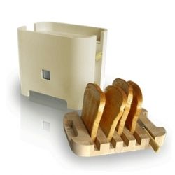 Reggeli Toaster: Contemporary design to suit the modern lifestyle. Toaster has been designed from observing user needs. When not in use the board acts as a lid keeping the toaster clean.