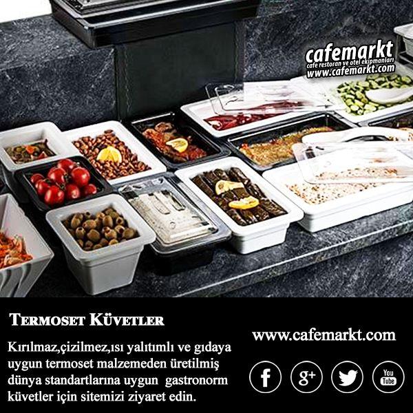 Kırılmaz, çizilmez, ısı yalıtımlı, gıdaya uygun malzemeden üretilmiş dünya standartlarına uygun gastronorm küvetler için sitemizi ziyaret edin. http://www.cafemarkt.com/gastronorm-kuvetler #Cafemarkt #GastronormKüvet #Gastronorm  #Termoset #TermosetKüvet