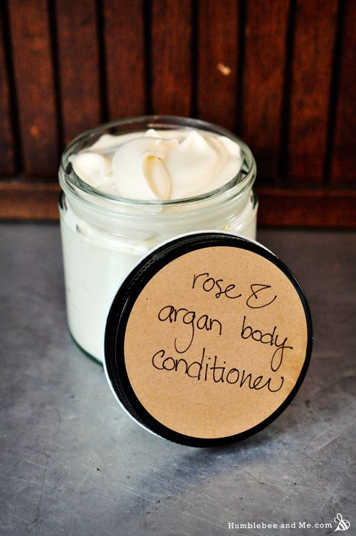 Rose and argan body conditioner- must make once I get my hands on some emulsimulse or the like.