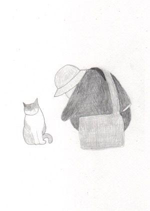 本日の一枚。2017/4/2猫と友人。