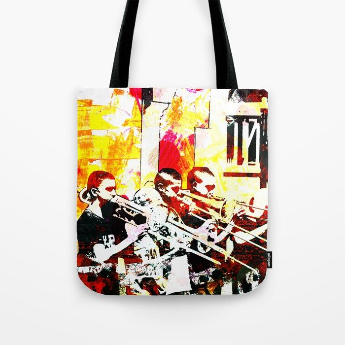 Happy noise trumpet players Tote Bag. $20.99