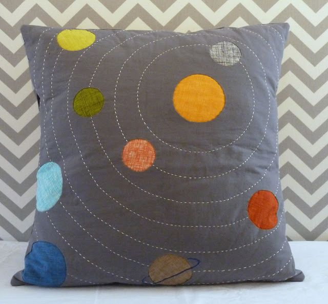 materials and method blog: solar system cushion