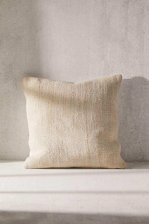 Urban Renewal Reclaimed Hemp Throw Pillow Throw Pillows Hemp Pillows Plush Throw Pillows