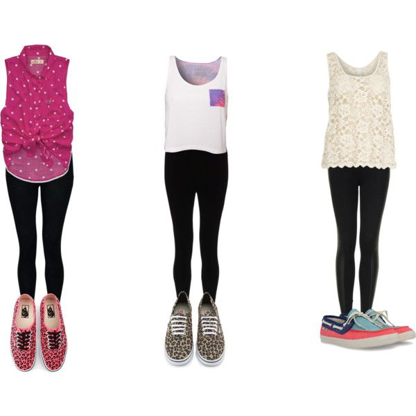Fashion style Wear to what with black leggings polyvore for girls