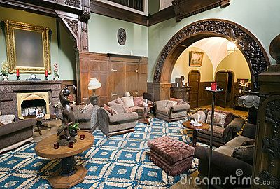 A classic hotel lobby, spacious room, vintage furniture.   <a href='http://www.dreamstime.com/interiors-rcollection4789-resi208938' STYLE='font-size:13px; text-decoration: blink; color:#FF0000'><b>MY INTERIORS COLLECTION »</b></a>