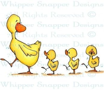 Ducks in a Row - Ducks - Animals - Rubber Stamps - Shop