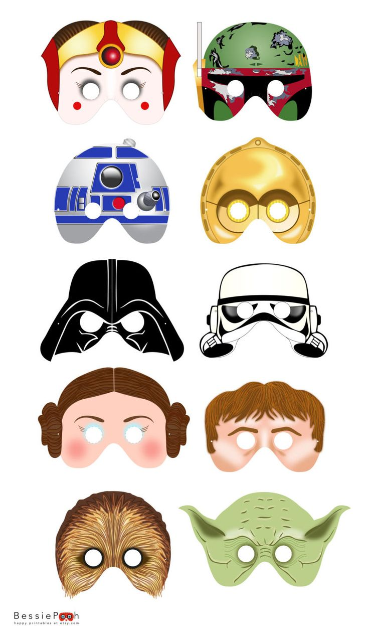 These printable masks would be great for a Star Wars party.