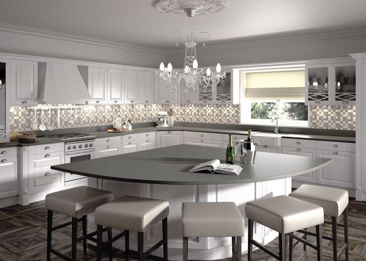 Kjøkkenøy fra Silstone, Cemento Spa. Kjøp den hos Naturstein Montering AS, 3531 Krokkleiva