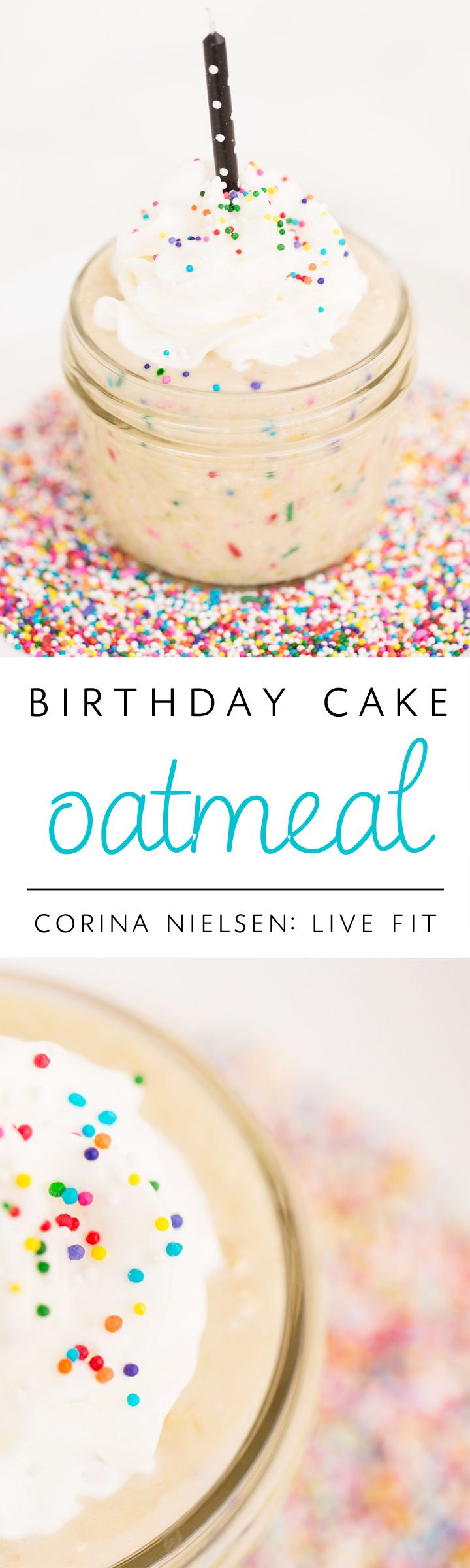 The BEST 'birthday cake' flavored oatmeals ever! These are high in protein, big on flavor, and easy to prepare!