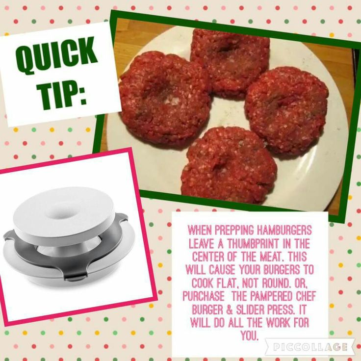 Get your Pampered Chef burger press and many more tools  at www.pamperedchef.biz/LindaLauas