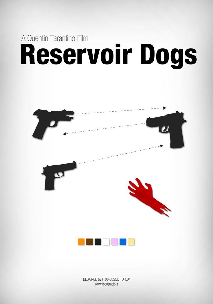 Reservoir Dogs (1992) ~ Minimal Movie Poster by Francesco Turla #amusementphile